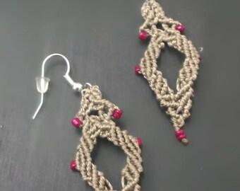 """Macramé earrings """"Rumbles"""""""