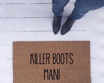 Killer boots man! doormat