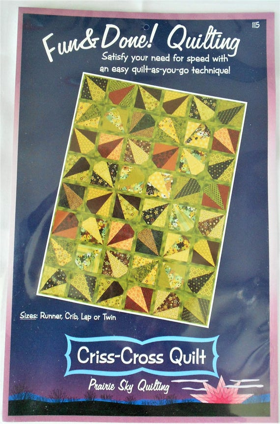 Criss Cross Quilt Pattern By Fun And Done Quilting