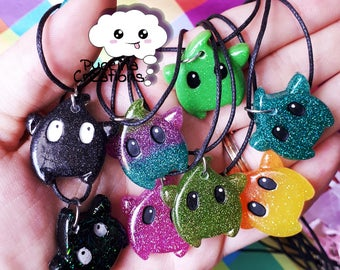 Resin Necklace mini Luma (Luma mini resin necklace)