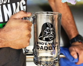 Who's Your Daddy?//Father's Day//Beer Mug