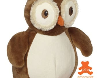 Personalised Plush Animal – Okie Owl