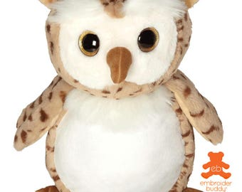 Personalised Plush Animal – Oberon Owl