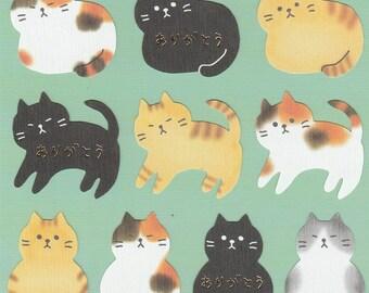 Japanese Colorful Cute Cat Sticker