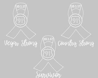 Route 91 Car Decal | Country Strong | Vegas Strong | Support Victims Fund | Car Decal | Las Vegas | Country Music is Healing | Sticker