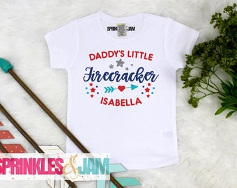4th of July Baby Girl, Kids 4th of July Shirt, Daddys Little Firecracker, 4th of July Onesie ®, 4th of July Shirt, Independence Day