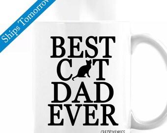 Best Cat Dad Ever Cat Coffee Mug
