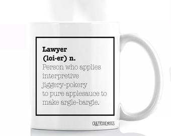 Lawyer Definition Coffee Mug