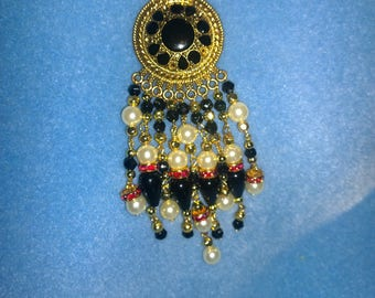 Gold Metal Pendant with cord color options Pick your length Deep dark pink swarovski black white yellow gold