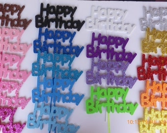 25  Cake toppers Happy Birthday  big
