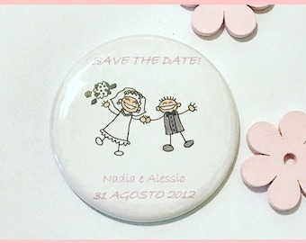 Magnets baptism, communion, birthday-Personalized magnets for events-Save The wedding date-favors-souvenirs festa-Magnet