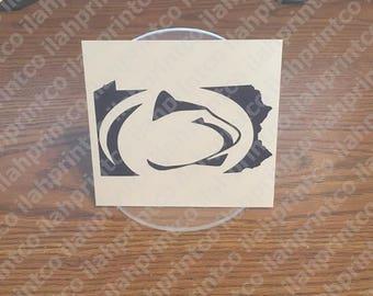 Logo  //  Penn State University  //  PSU  //  Pennsylvania  //  Nittany Lion  -- Decal