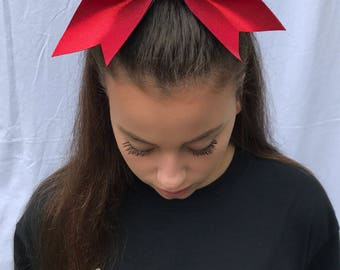 All Red Cheer Bow