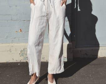PENDING - 00s Oatmeal/Cream Linen Drawstring Pants