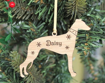 Personalised Whippet Decoration,Whippet Decoration,Whippet Christmas Decoration, Whippet tree decoration, Dog Christmas Decoration