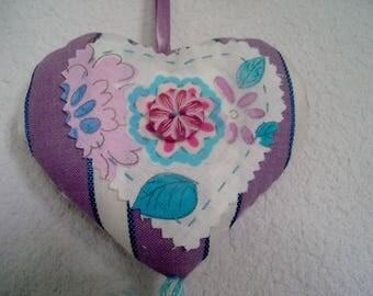 Heart with purple tassel