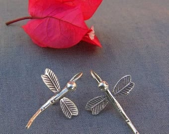 Silver earrings. Silver Jewellery. Dragonfly Earrings. Ethnic Jewellery. Silver Earrings. Ethnic earrings. Silver jewellery.
