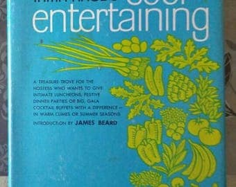 Cool Entertaining ,  1976 , Irma Rhode ,  Out of Print , Intimate Luncheons , Festive Dinner Parties , Gala Cocktail Buffets