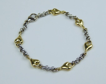14k yellow white gold Link bracelet #10473