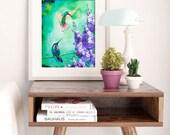 ORIGINAL Hummingbird Painting | TAKING FLIGHT | 11x14 | Hummingbird Art | Hummingbird Painting | Wall Art | Bird Painting | Nature Art