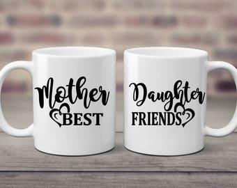 Mother Daughter | Best Friends | Mug Set | Gift For Mom | Mother Daughter Gift | Mothers Day Gift | Birthday Gift | Mothers Gift | Daughter|