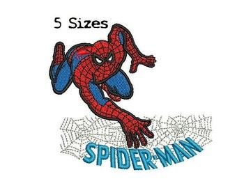 Spider man Spiderman 5Sizes Digitized filled Machine Embroidery Design Digital Download
