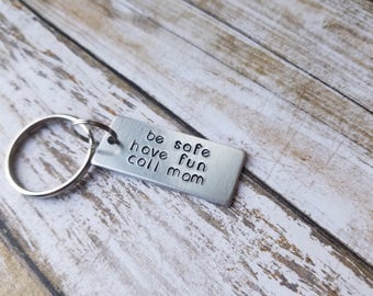 New Driver Keychain, Sweet 16 Gift, College Student Gift, Teen Boy Gift, Teenage Girl Gift, Driver's License, New Driver, Call Mom Key Chain