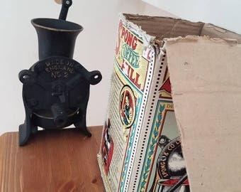 Vintage Antique Spong Black Cast Iron Coffee Grinder No 2 Made in England