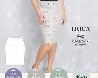 Women sewing pattern pdf / pencil skirt pattern / sewing pattern with pdf sewing tutorial XS-XXL plus size / instant download