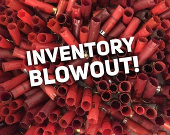Huge Lot 400 Empty Shotgun Shells Spent Hulls Shotshells 12 Gauge Cartridges Casings Mixed Red Burgundy Colored Excess Inventory Sale!