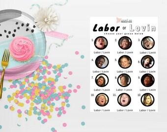 Labor or Lovin Baby Shower Game