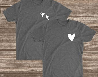 Love Birds Matching Shirts -  Matching Couples Shirts - Couples Valentines Shirts - Unisex - Women's - Boyfriend Girlfriend Shirts