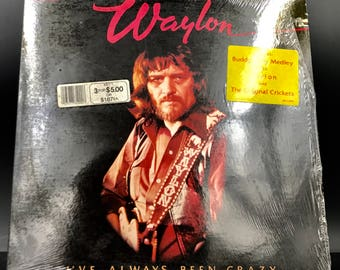 WAYLON JENNINGS VINYL Record - I've Always Been Crazy - Rare Still In Original Shrink Wrap Vintage Country Vinyl Record Lp - Great Gift!