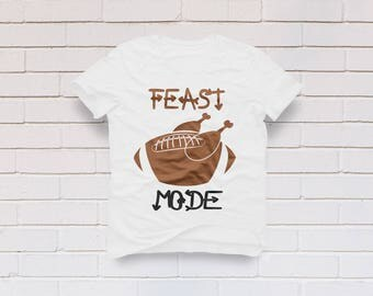 Feast mode svg, Turkey svg, Thanksgiving svg, Football svg, Feast Mode turkey svg, Turkey shirt, Cricut, Cameo, Clipart, Svg, DXF, Png, Eps