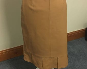 Brown leather skirt size 12