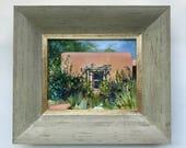 """Handell House // 8"""" x 10"""" // Plein Air // Original Oil Painting // By Mandie Aberra // Golden Fin Studios"""