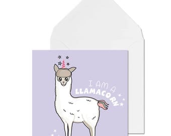 LLAMACORN! // Birthday Card // Alpaca Card // Llama card // Funny Card // Greetings Card