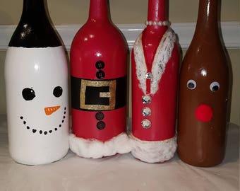 handmade bottle painting