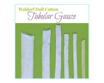 Waldorf Doll Tubular Gauze, Doll's Cotton Tubing, Inner Head Fabric, Waldorf Doll Making Supplies, Cloth Dolls, Fabric Dolls Supplies