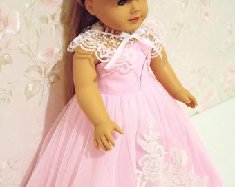 Princess dress (pink) fits 18 Inches doll, ball gown