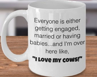 Funny Cow Gifts, Cow Mug, Funny Cow Mug, Cow Cup, Cow Lover Gift, Cow Coffee Cup, Gift for Cow Lover, Cow Ceramic Mug, Farm Cow Mug