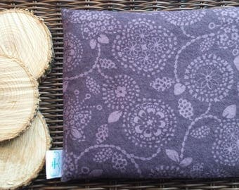 Comfort bag, heating dries, 18 cm X 22 cm, hot, cold, flannel, flowers, Mandala