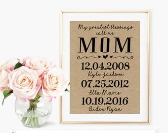 Mother of Bride Gift / Gifts For Mom From Daughter / Mothers Day Personalized / Personalized Print / Mothers Day Gift / Wedding Gift For Mom