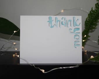 Thank You Card | Appreciation Card | Watercolour Card | Handmade Card | Blank Card