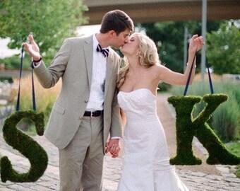 moss letter, moss initial, large grass letter, Moss decorations, Moss wall art, wedding grass sign, moss logo, grass logo, moss decor