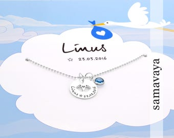 Baptism chain birth getting 925 Silver name necklace children's jewellery gift box