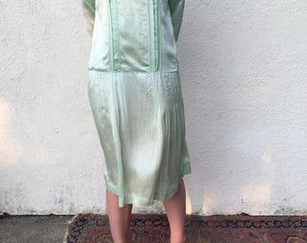 1920's Sea Foam Dress