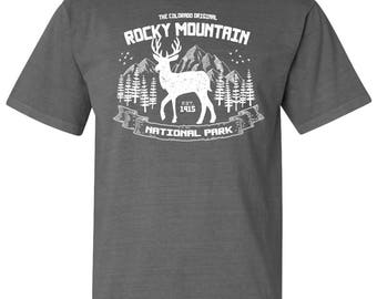 Rocky Mountain National Park Elk Adventure Comfort Colors TShirt