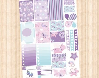 Lilac Unicorn Weekly Kit // Happy Planner // Erin Condren // Personal