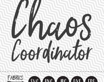 Chaos Coordinator svg Clipart in EPS DXF SVG Cricut & Silhouette
